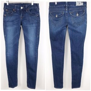 "True Religion Julie skinny Jeans sz 29 /34"" inseam"
